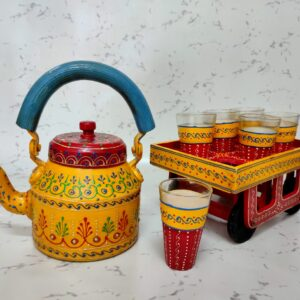 Tea Kettle set of Kettle Glass and Lorry