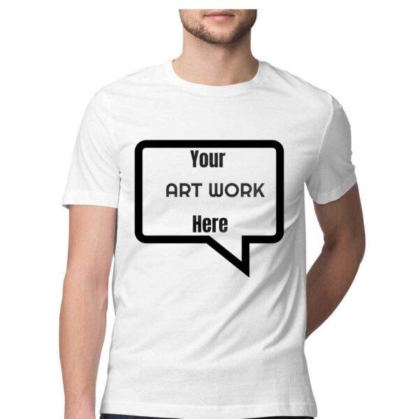 Custom Men's T-Shirt White