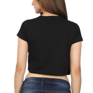 Custom Women's Crop Tops Black 180 GSM