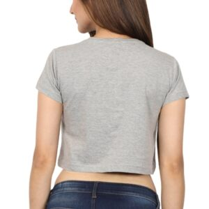 Custom Women's Crop Tops Grey 180 GSM