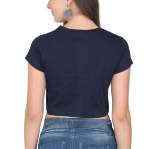Custom Women's Crop Tops Navy Blue 180 GSM