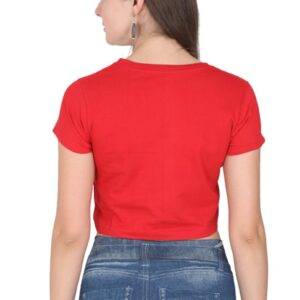 Custom Women's Crop Tops Red 180 GSM