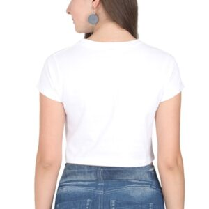 Custom Women's Crop Tops White 180 GSM