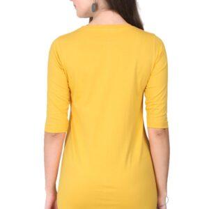 Custom Women's Long-Top Golden Yellow 180 GSM