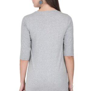 Custom Women's Long-Top Grey 180 GSM