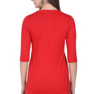 Custom Women's Long-Top Red 180 GSM