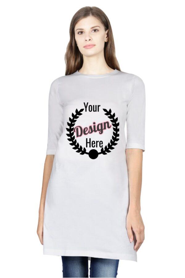 custom Women's Long-Top White