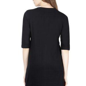 Custom Women's Maternity Black T-Shirt  180 GSM