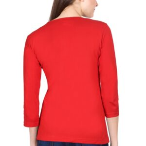 Custom Women's Full Sleeve Red 180 GSM