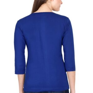 Custom Women's Full Sleeve Royal Blue 180 GSM