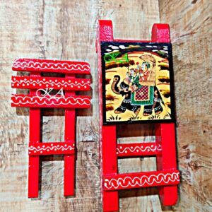 Wooden Mobile Stand With Amazing Rajasthani Hand Painting