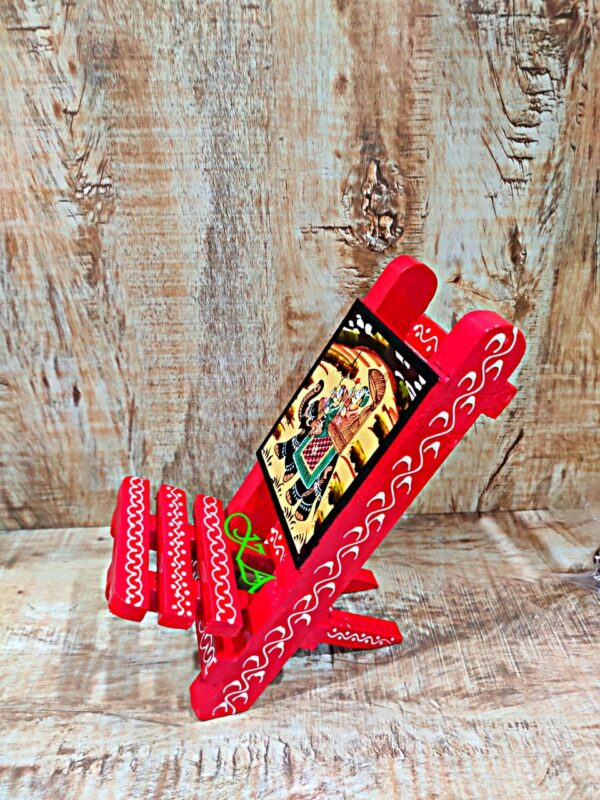 Wooden Mobile Stand With Amazing Rajasthani Hand Painting3