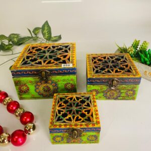 Wooden multipurpose box set of 3 pcs