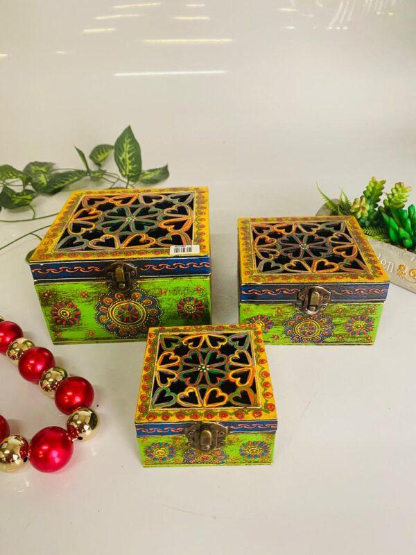 Wooden multipurpose box set of 3 pcs1
