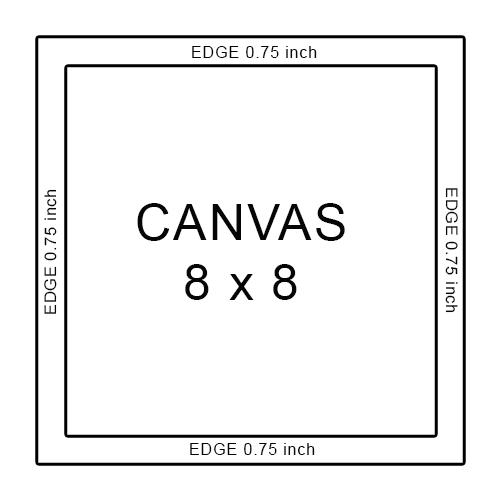 canvas 8 x 8