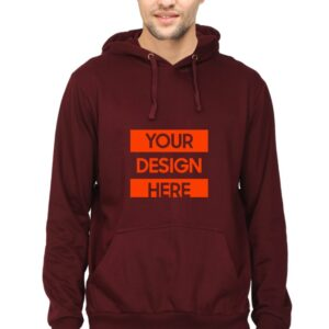 Custom Unisex Hooded Sweatshirt Maroon