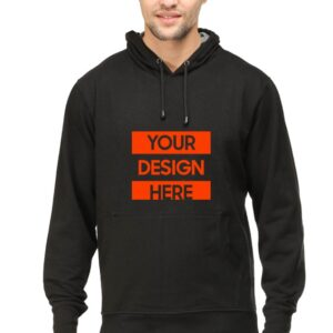 Custom Unisex Hooded Sweatshirt Black