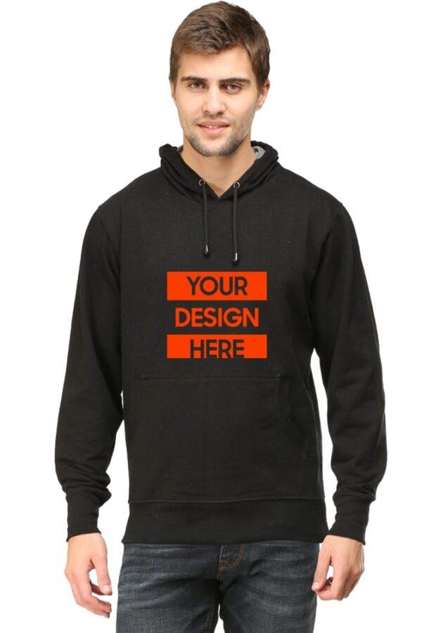 Custom Unisex Hooded Sweatshirt Black