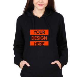 Custom Unisex Hooded Sweatshirt Black 320 GSM
