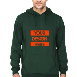 Custom Unisex Hooded Sweatshirt Green