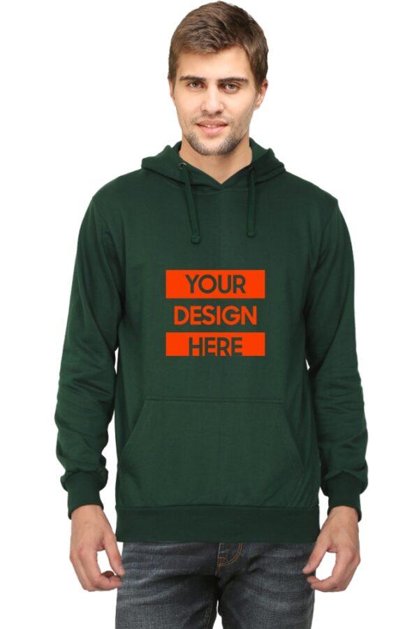 Custom Unisex Hooded Sweatshirt Green