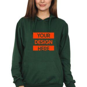 Custom Unisex Hooded Sweatshirt Green 320 GSM