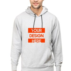 Custom Unisex Hooded Sweatshirt Grey