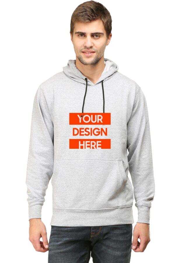 Custom Unisex Hooded Sweatshirt Grey