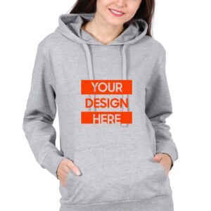 Custom Unisex Hooded Sweatshirt Grey 320 GSM