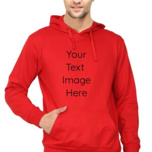 Custom Unisex Hooded Sweatshirt Red