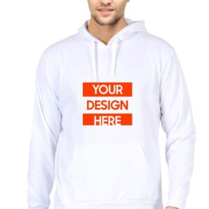 Custom Unisex Hooded Sweatshirt White