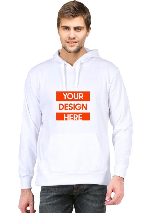 Custom Unisex Hooded Sweatshirt White