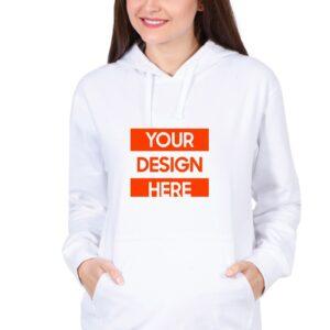 Custom Unisex Hooded Sweatshirt White 320 GSM