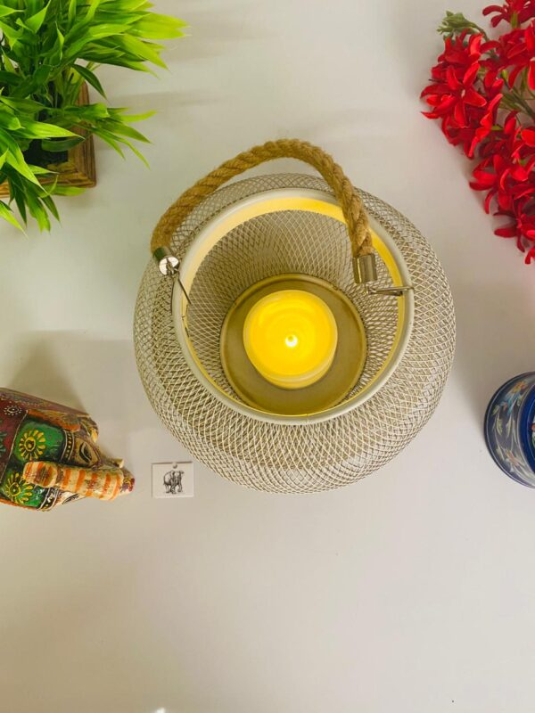 metal led tealight holder battery operated2