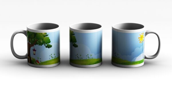 mug Green meadow paper 3 side white reduced