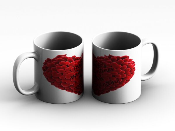 mug Heart and Text 2 2 side white red 1