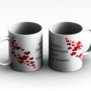 Heart with text type 1  Personalised Printed Coffee Mug