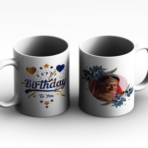 mug PERSSONALIZED 2 side white red