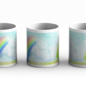 mug beautiful rainbow background 3 side white