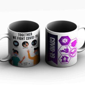 Covid 19 design corona virus 2  Printed Coffee Mug