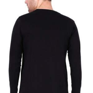 Custom Men's Full Sleeves Black T-Shirt 180 GSM