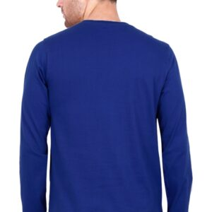 Custom Men's Full Sleeves Royal Blue T-Shirt 180 GSM