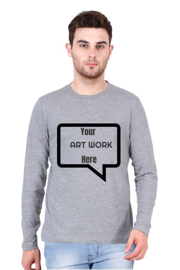 Custom Men's Full Sleeves Grey