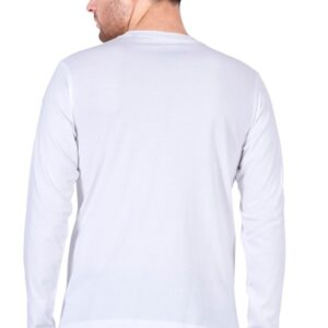 Custom Men's Full Sleeves White T-Shirt 180 GSM