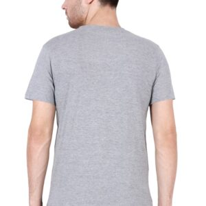 Custom Men's V Neck T-Shirt Grey 180 GSM