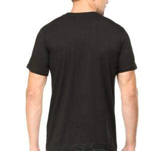 Custom Men's V Neck T-Shirt Black 180 GSM