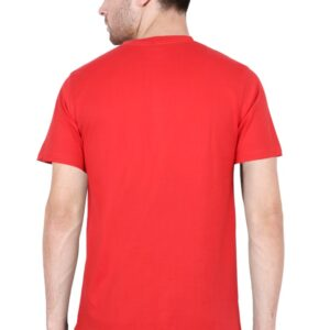 Custom Men's V Neck T-Shirt Red 180 GSM