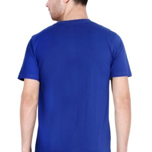 Custom Men's V Neck T-Shirt Royal Blue 180 GSM