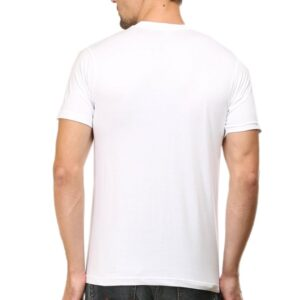Custom Men's V Neck T-Shirt White 180 GSM