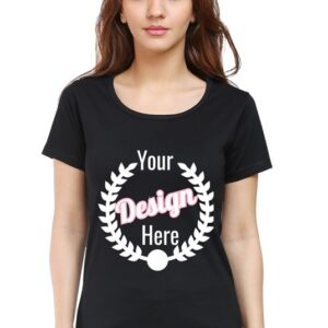 Custom Women's Black T-Shirt